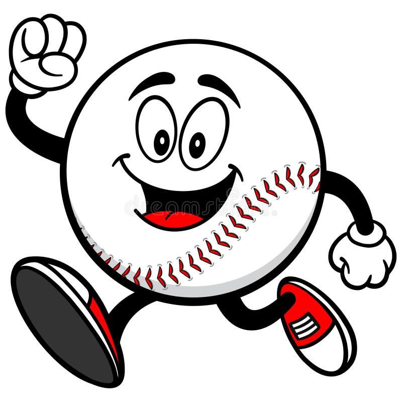 Baseball Mascot Running stock image