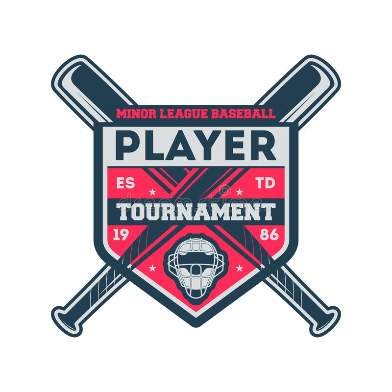 Free Baseball Minor League Vintage Label Royalty Free Stock Image - 100774696