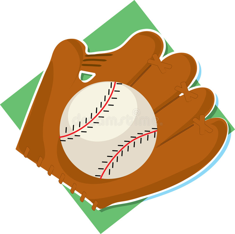 Baseball and Mitt. Baseball and glove on a white background vector illustration