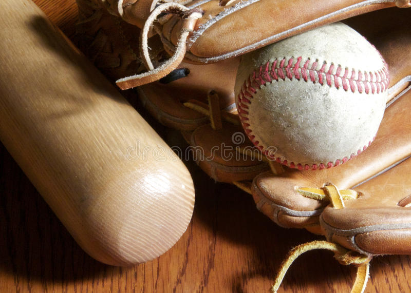Download Baseball, mitt and bat stock photo. Image of leather - 19931790