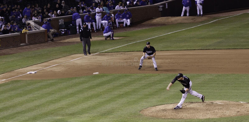 Baseball - MLB Pitcher Throwing Ball royalty free stock images
