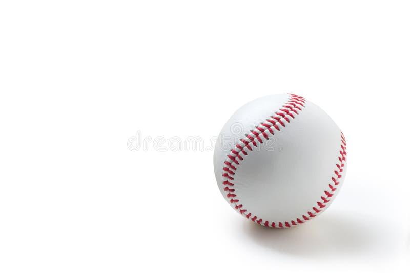 Baseball na bielu fotografia stock