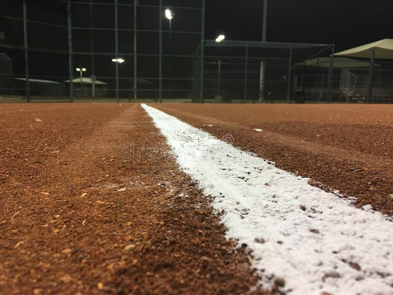 Baseball nachts lizenzfreies stockfoto