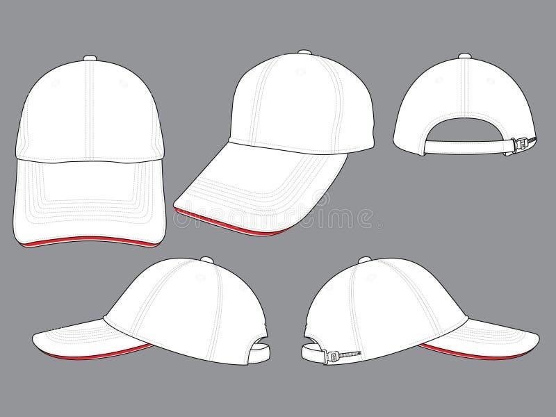 Baseball nakrętka dla szablonu ilustracja wektor