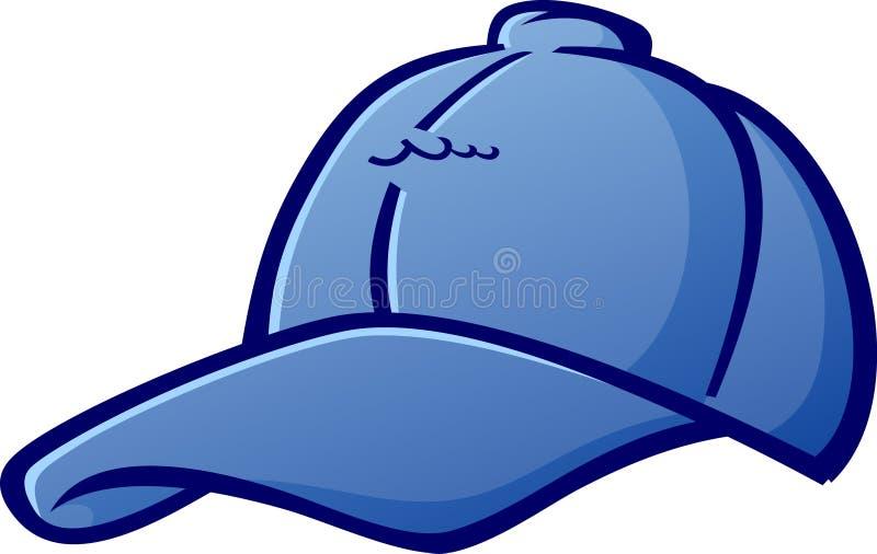 Baseball nakrętki kreskówki Kapeluszowa Wektorowa ilustracja ilustracji