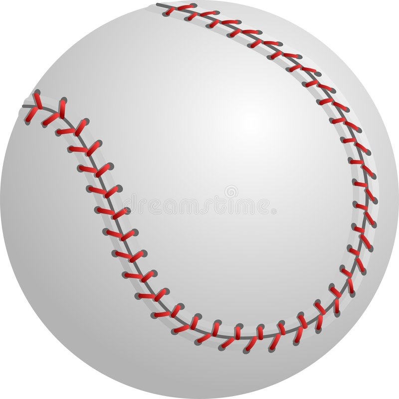 Baseball o softball isolato illustrazione di stock