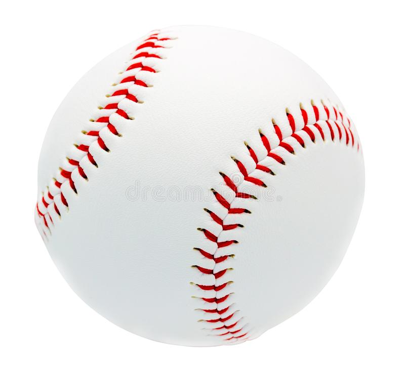 Baseball odizolowywający na białym tle z ścinek ścieżką zdjęcia stock