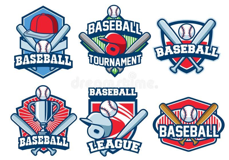 Baseball odznaki projekta set ilustracji