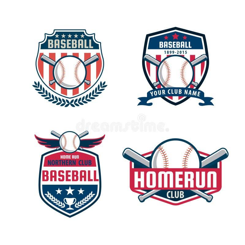 Baseball odznaki set ilustracji