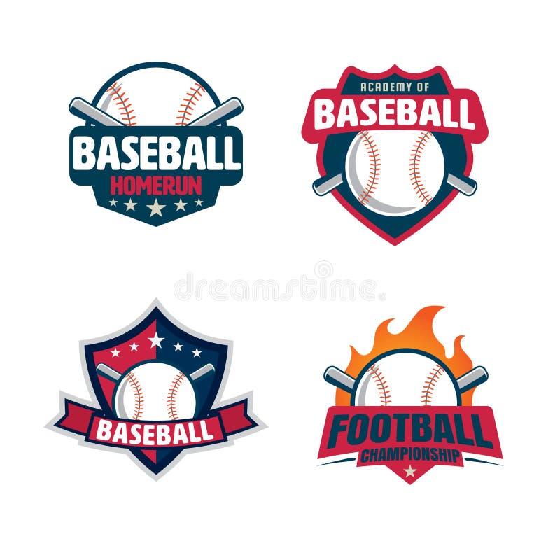 Baseball odznaki set royalty ilustracja