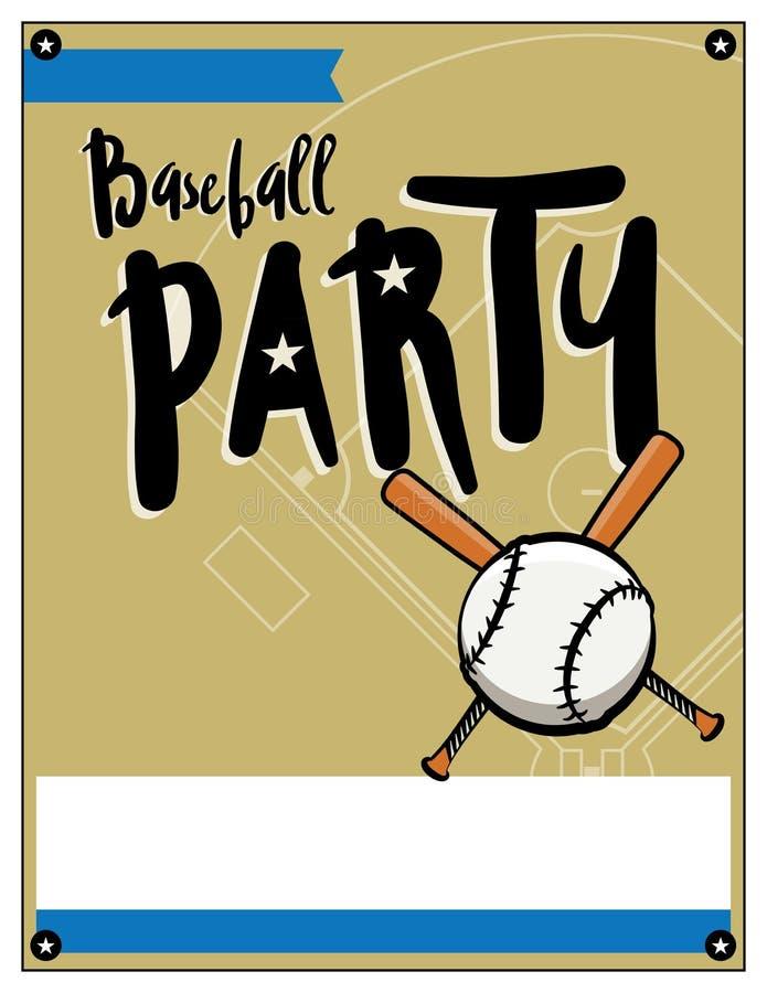 Baseball Party Invitation Template Illustration Stock Vector ...