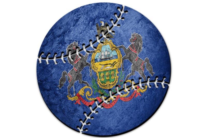 Baseball Pennsylvania state flag. Pennsylvania flag background B. Aseball Sport stock images