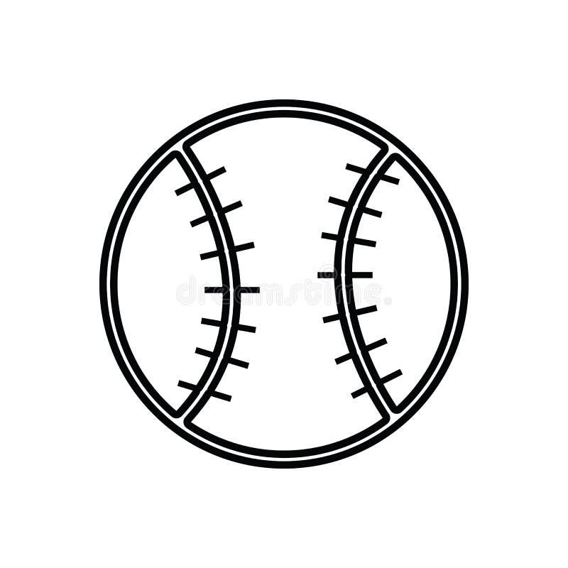 Baseball pi?ki ikona Element sport dla mobilnego poj?cia i sieci apps ikony Kontur, cienka kreskowa ikona dla strona internetowa  ilustracja wektor