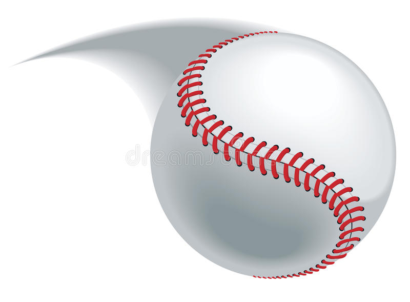Baseball pitch royalty free illustration