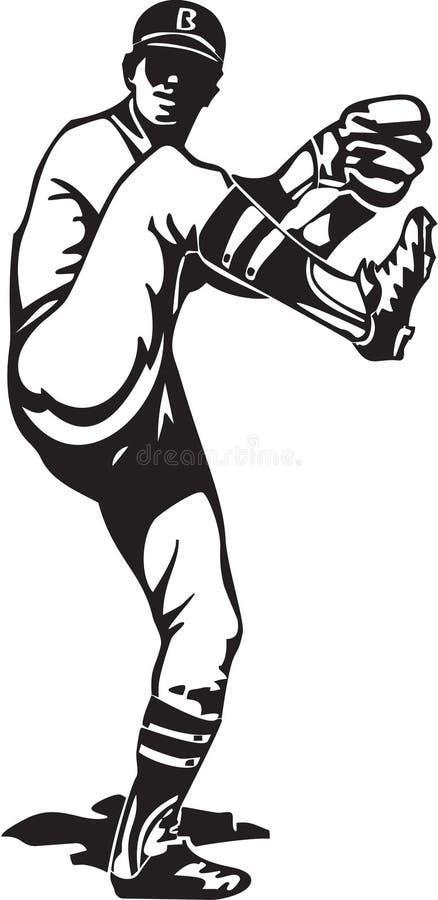 Baseball Pitcher vector illustration