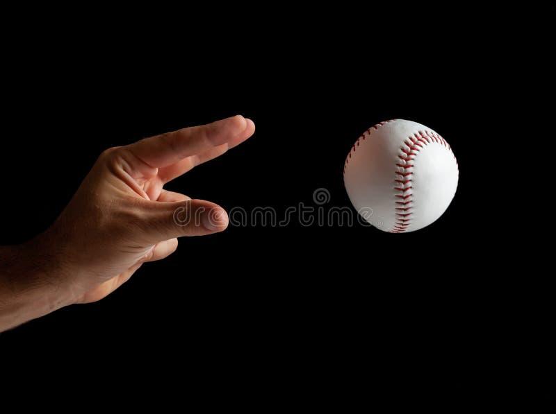 Baseball-pitcher redo att kliva arkivbild