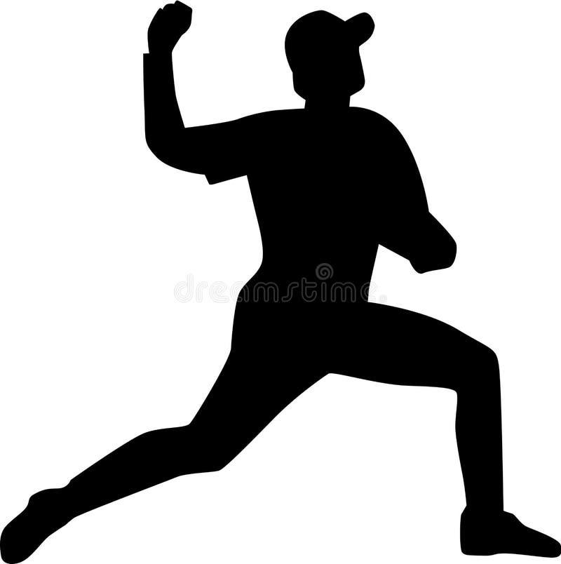 Baseball Pitcher Silhouette vector illustration