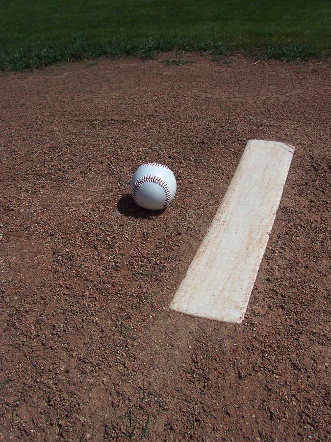 Baseball and Pitchers Mound royalty free stock image