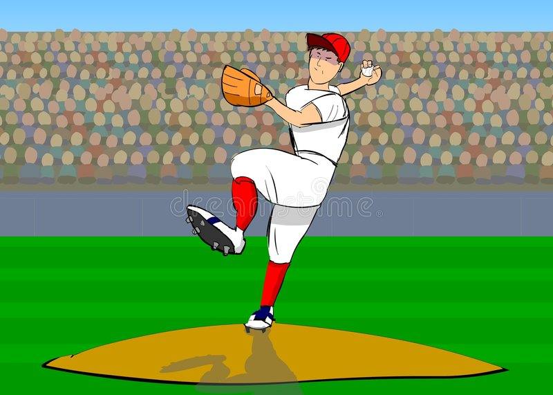 Baseball player vector illustration