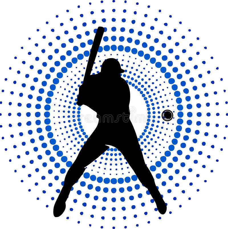 Baseball player royalty free illustration