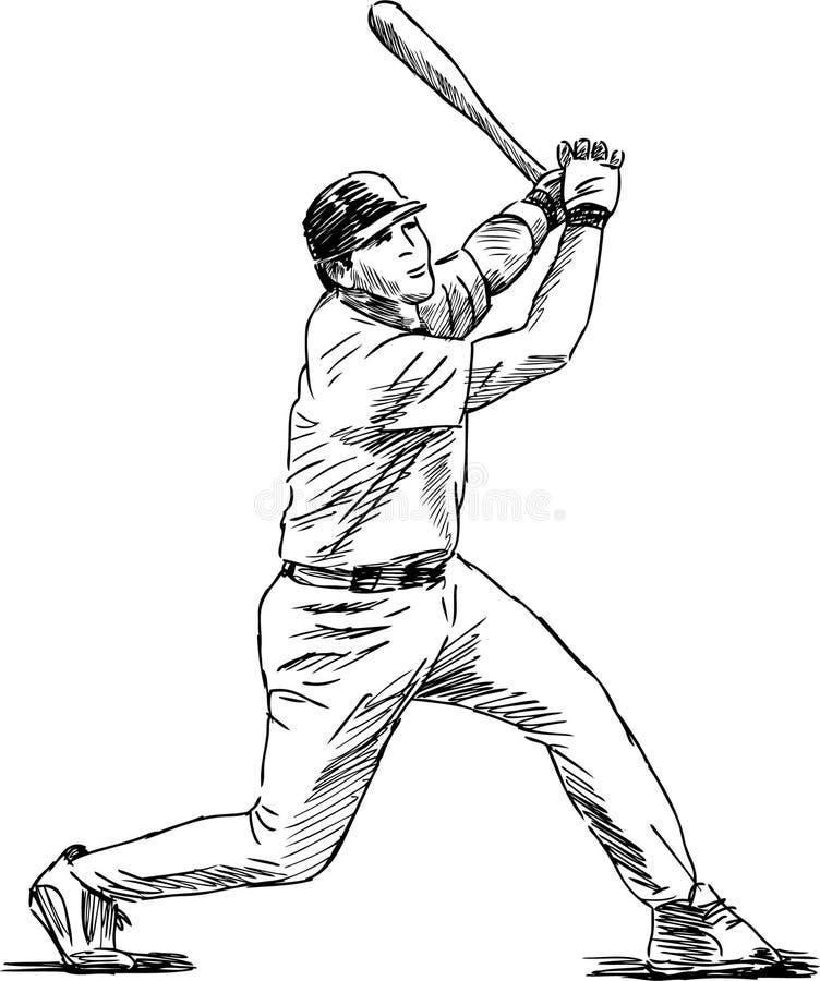 Baseball Player. Vector image of a baseball player vector illustration