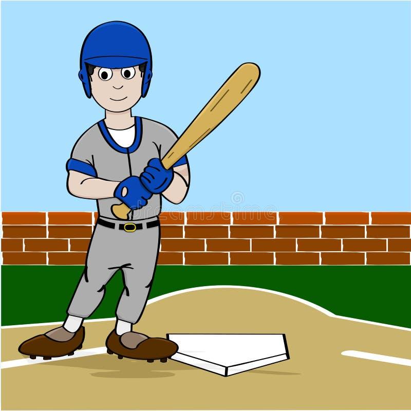 Baseball player stock illustration