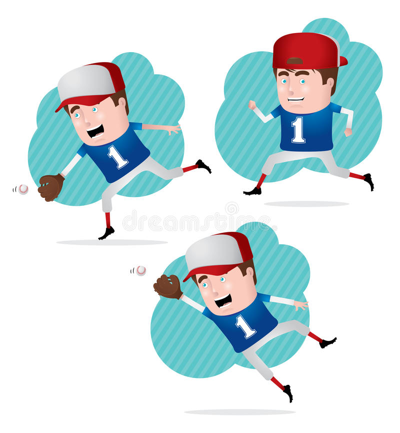 Download Baseball Player in Action stock vector. Image of smile - 19916261
