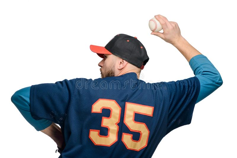 Baseball player in action royalty free stock photography