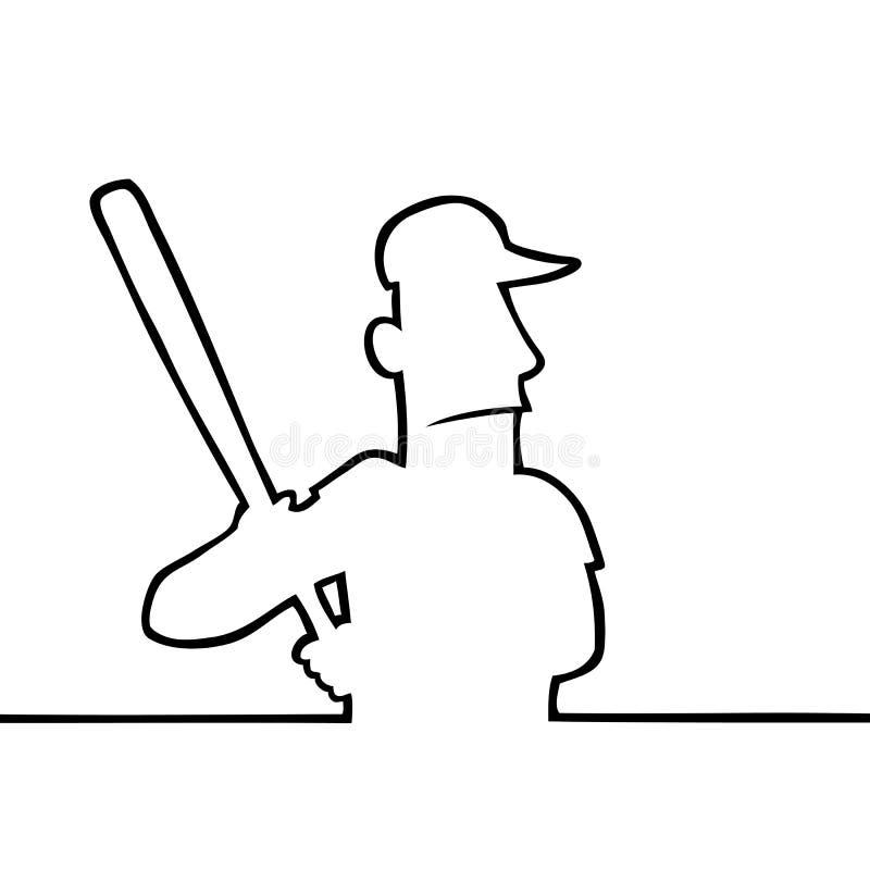Baseball player with bat royalty free stock photo