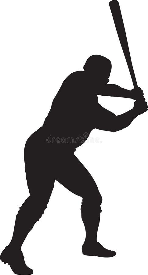 Baseball Player, Batter 01 royalty free illustration