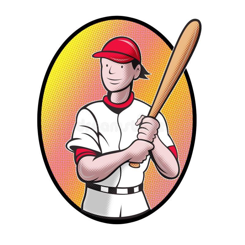 Download Baseball Player Batting Cartoon Stock Illustration - Image: 19895327