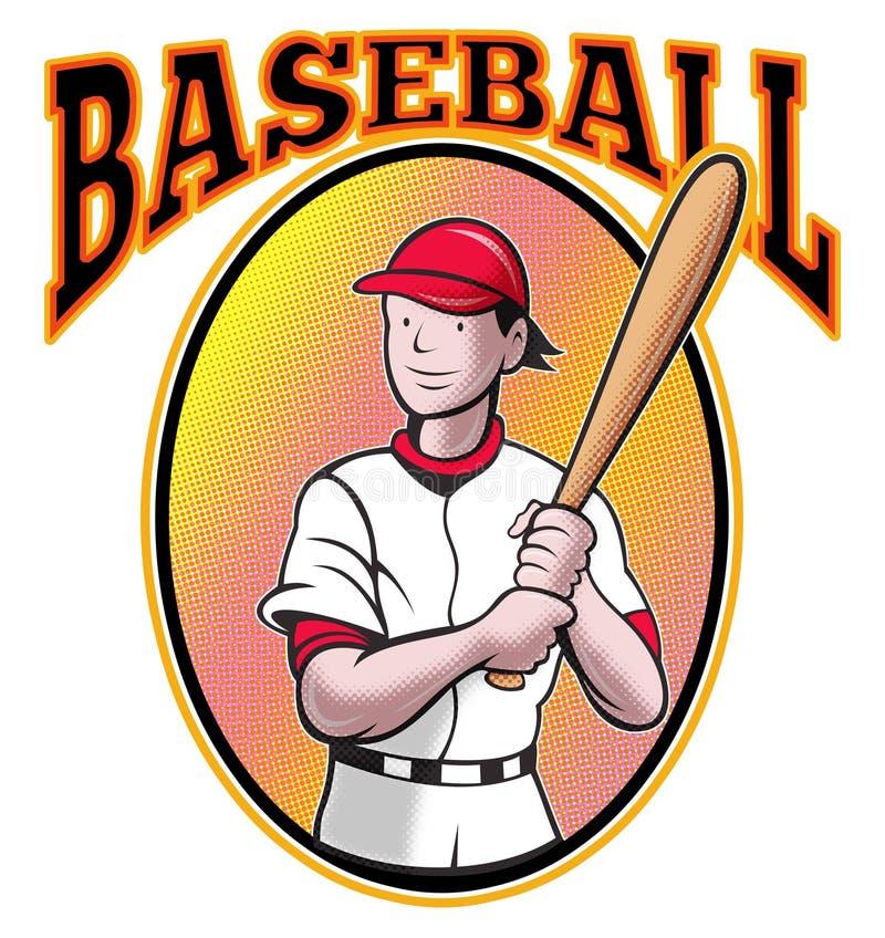 Baseball Player Batting Cartoon Royalty Free Stock Photography