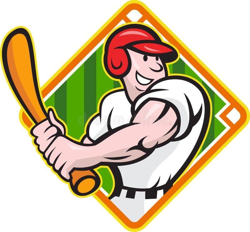 Download Baseball Player Batting Diamond Cartoon Stock Vector - Image: 25683408