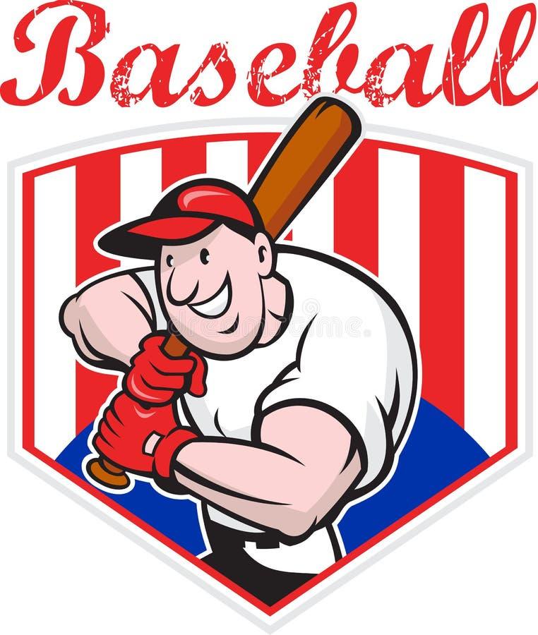 Download Baseball Player Batting Diamond Cartoon Stock Vector - Illustration of diamond, male: 25683430