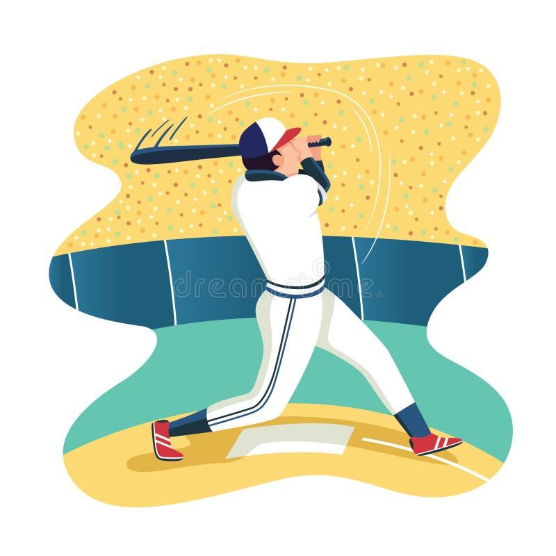 baseball player cartoon. Flat vector character illustration - Vector vector illustration