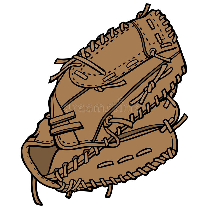 Baseball Player Glove. Cartoon illustration of a Baseball Player Glove royalty free illustration