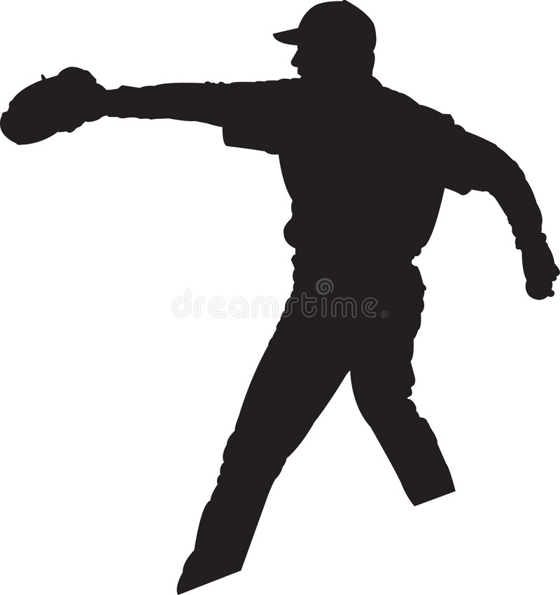 Baseball Player, Pitcher 01 royalty free stock photography