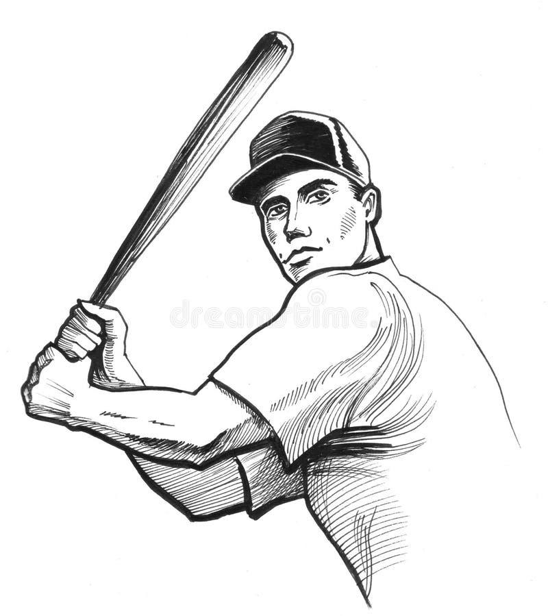 Baseball player royalty free illustration