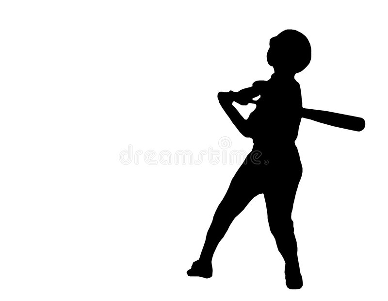 Download Baseball player silhouette stock image. Image of match - 843047