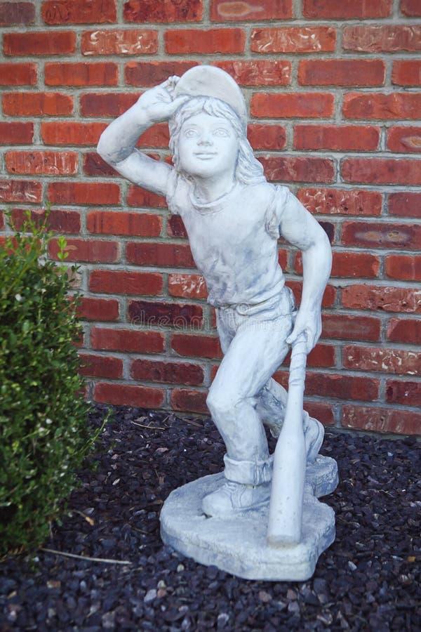 Baseball player statue stock photo