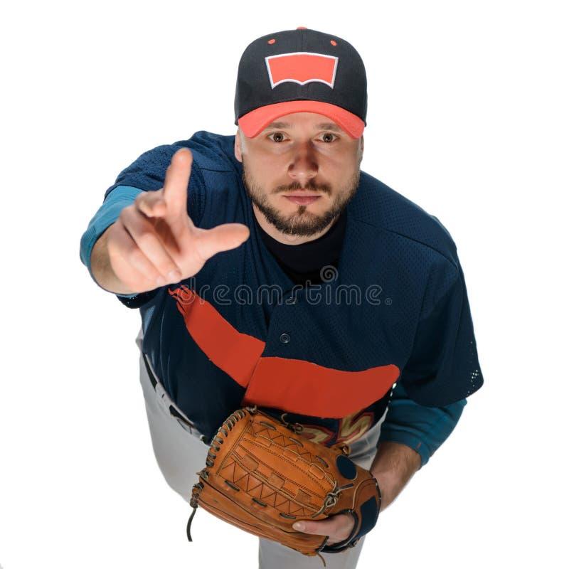 Baseball player threw a ball stock photo