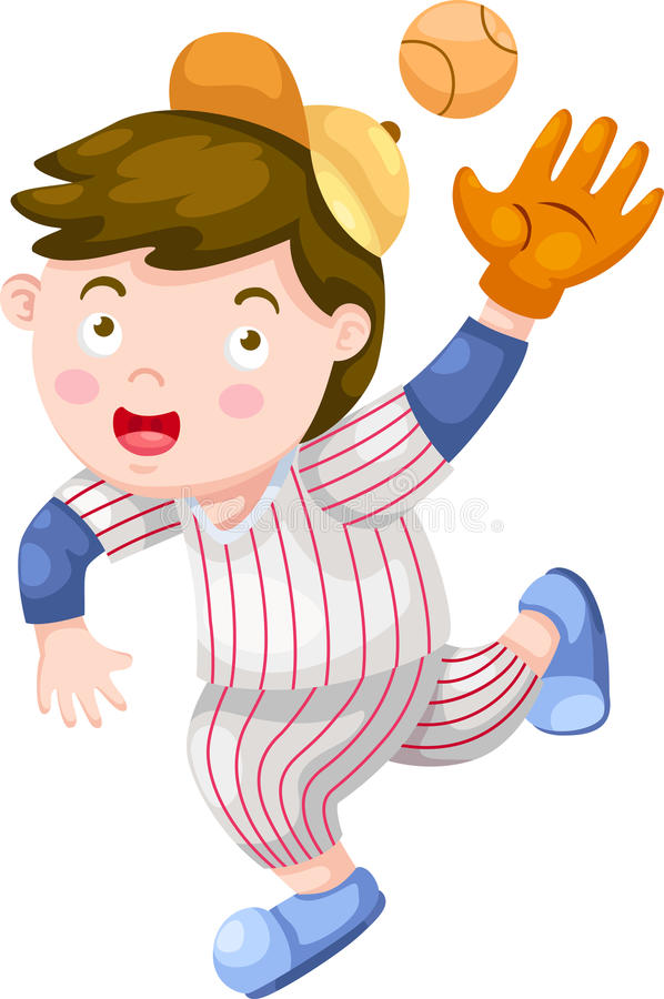 Download Baseball Player vector stock vector. Image of confident - 26524415
