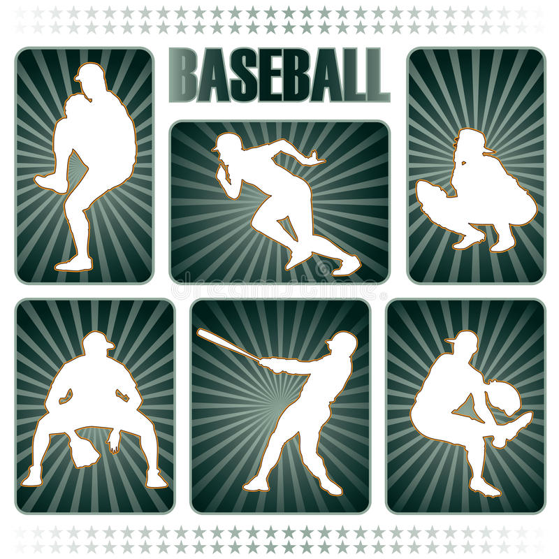 Download Baseball Players Silhouettes Stock Photos - Image: 10985393