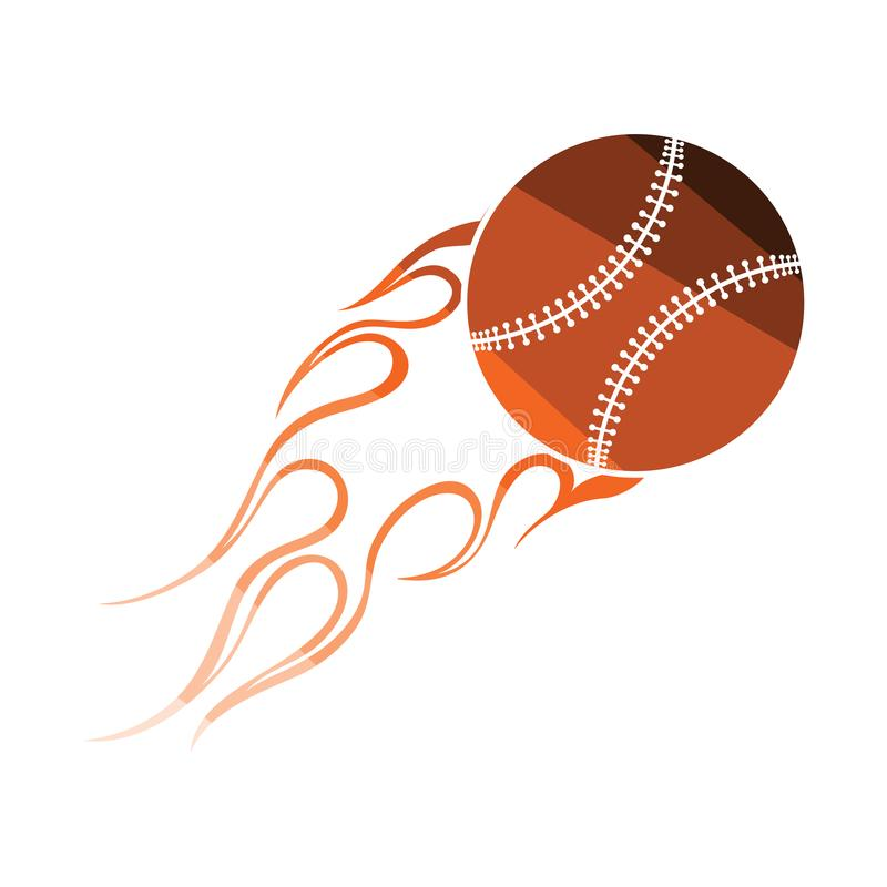 Baseball pożarniczej piłki ikona ilustracji
