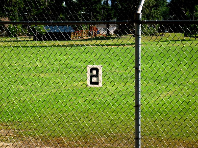 baseball pola numer dwa. obraz stock