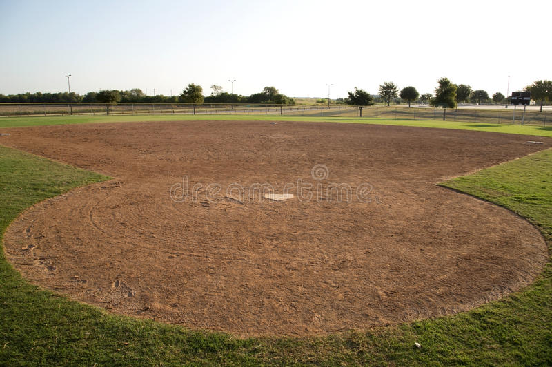 Baseball practice field in Warren Sports Complex royalty free stock photos