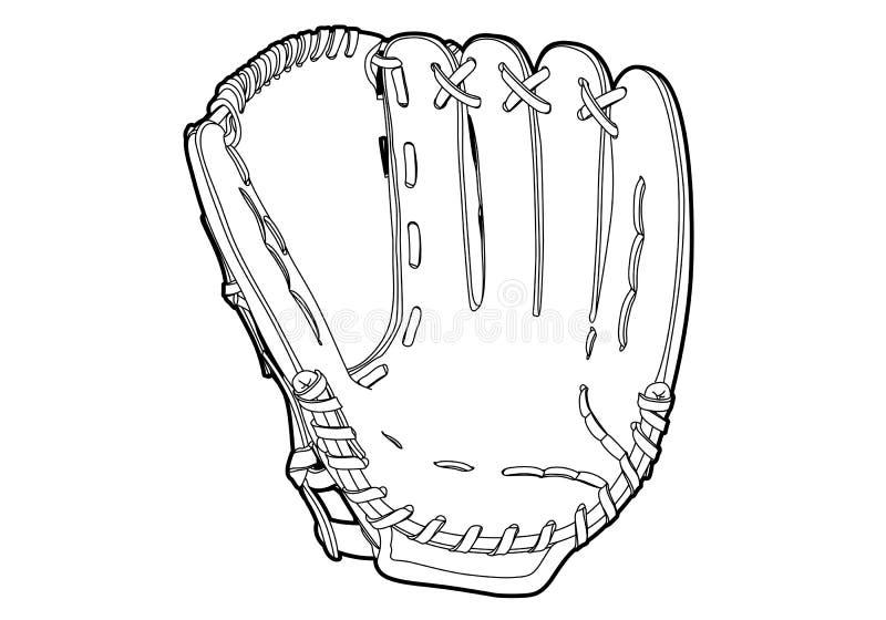 Baseball rękawiczka ilustracja wektor