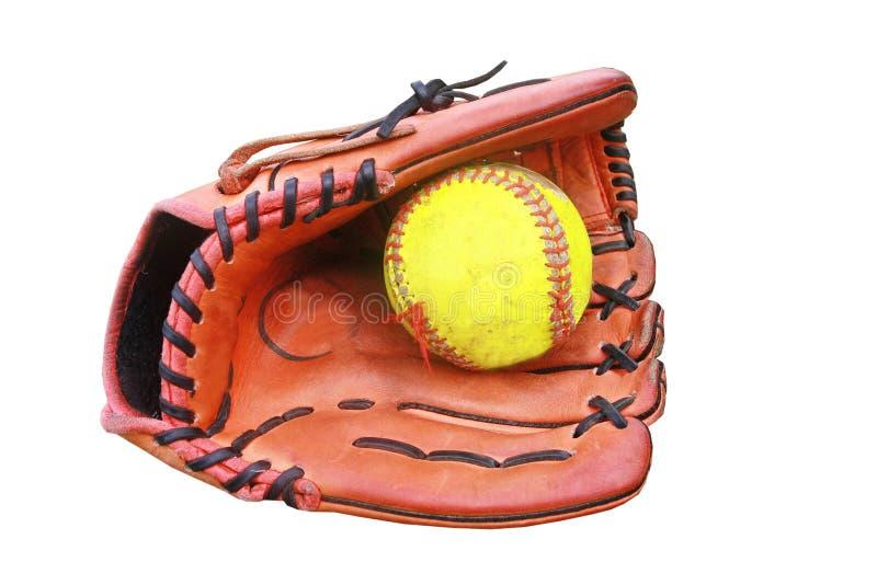 Baseball rękawiczki chwyt piłka zdjęcie royalty free