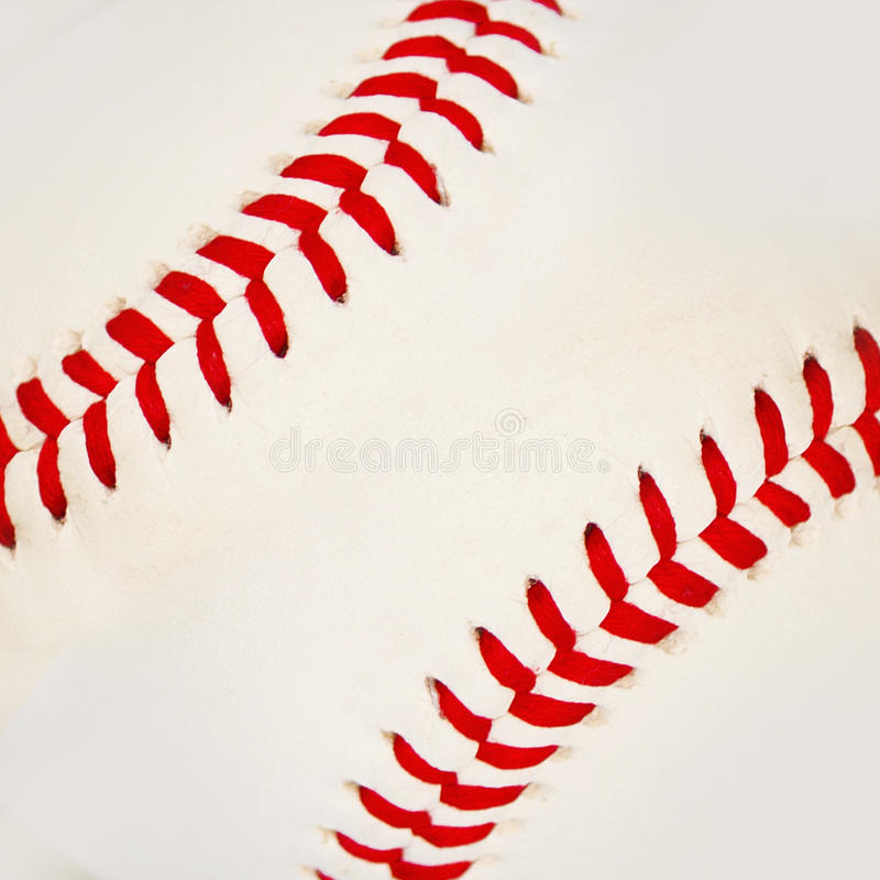 Baseball with red stitches. royalty free stock images