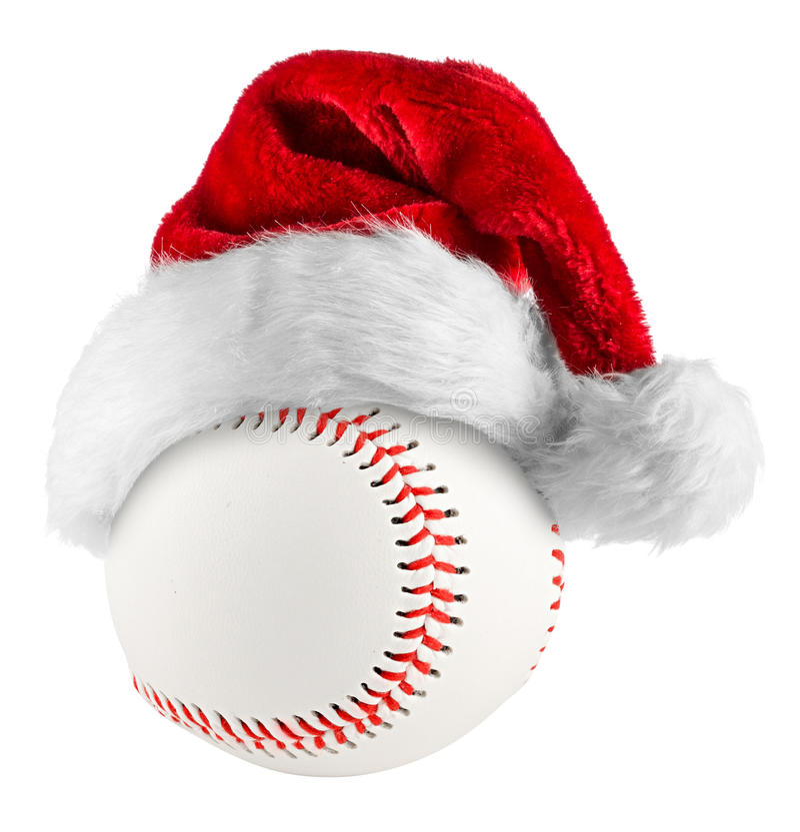 Baseball santa hat royalty free stock photos